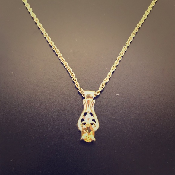 62 off Jared Jewelry Gold necklace with yellow topaz from
